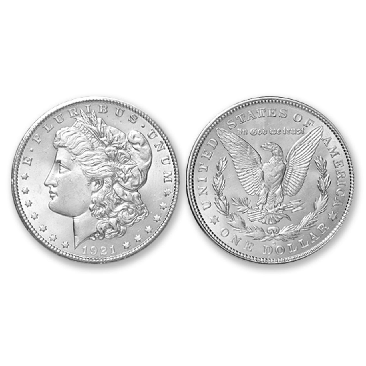 1921-D Morgan Silver Dollar - Brilliant Uncirculated Condition