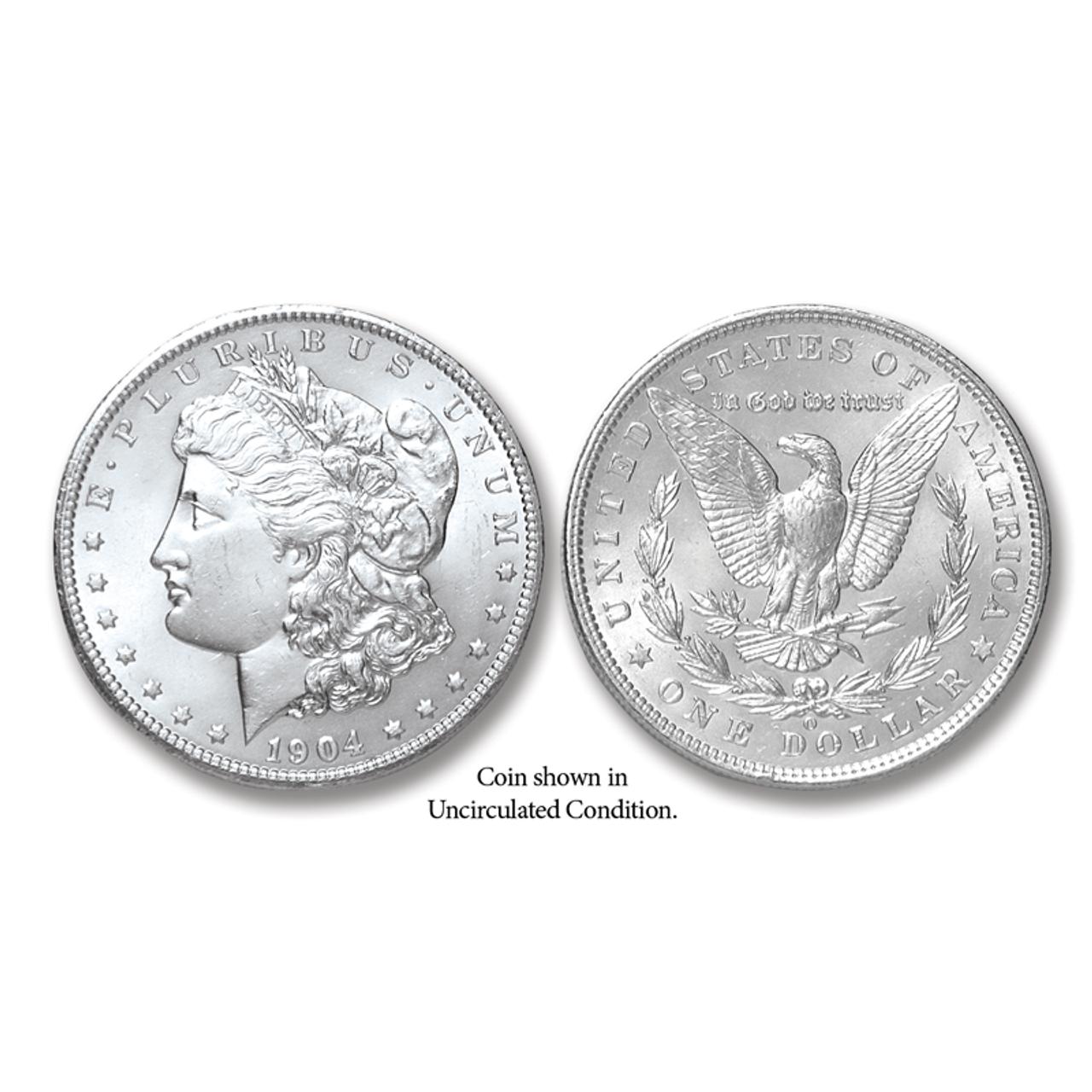 1904-O Morgan Silver Dollar - Collector's Circulated Condition