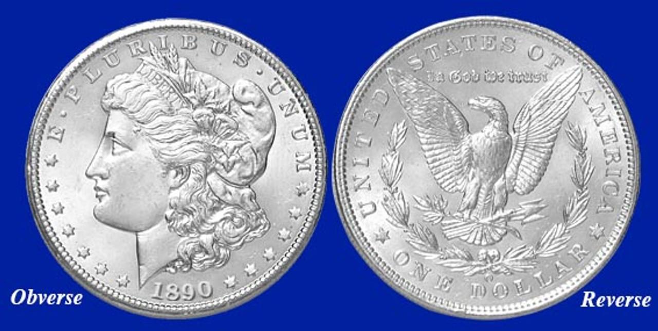 1890-O Morgan Silver Dollar - Brilliant Uncirculated Condition