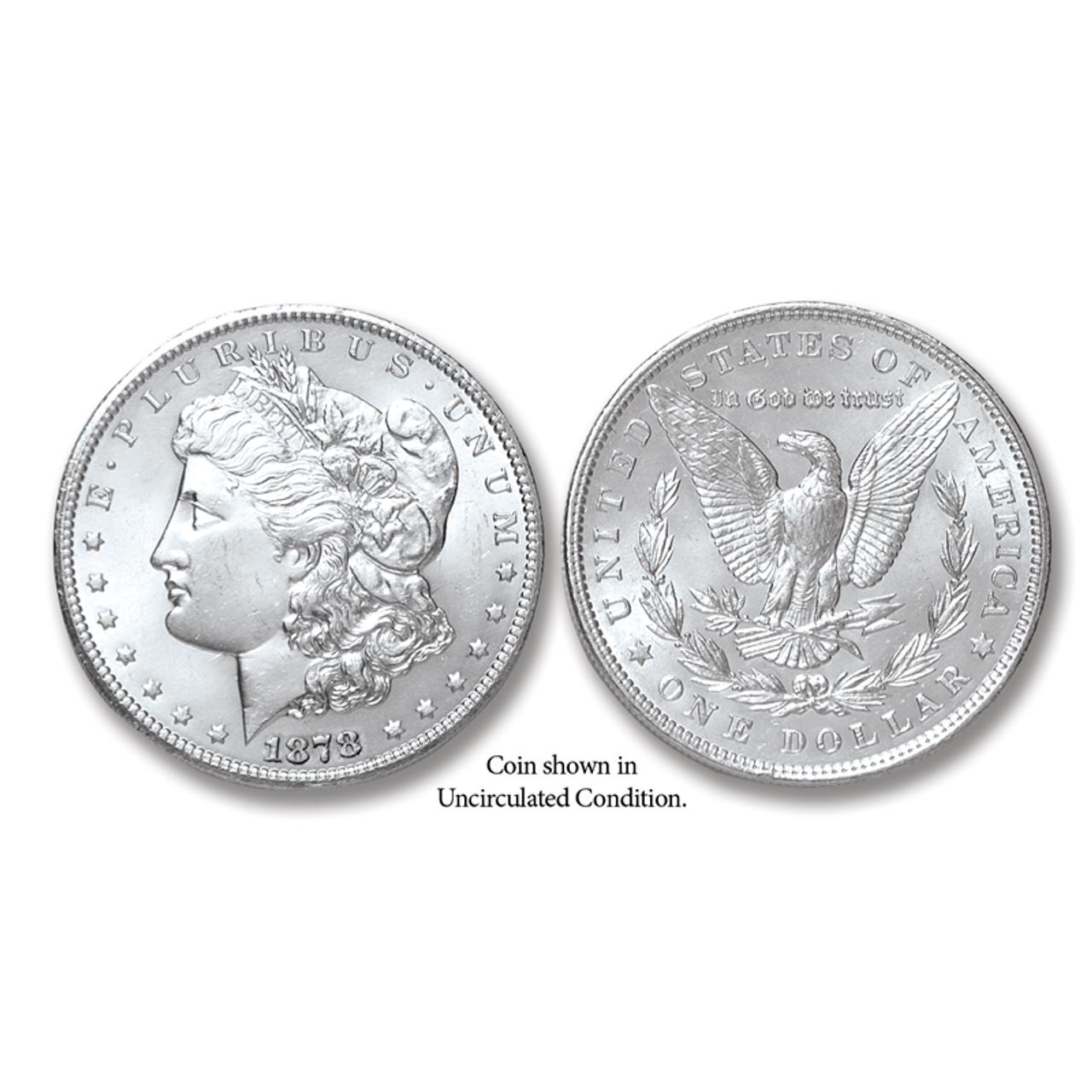 1878-P Morgan Silver Dollar - Collector's Circulated Condition