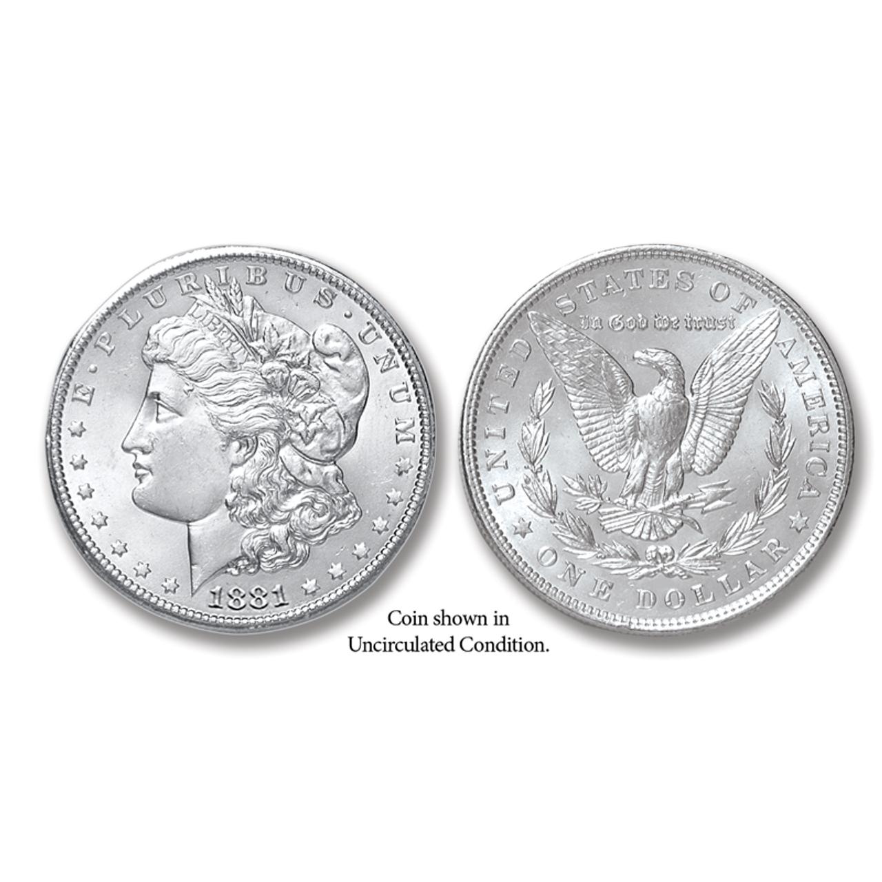 1881-P Morgan Silver Dollar - Collector's Circulated Condition