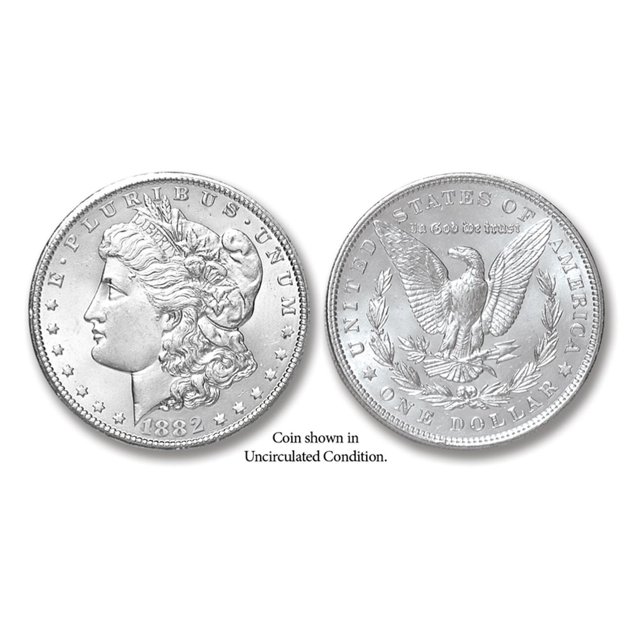 1882-P Morgan Silver Dollar - Collector's Circulated Condition
