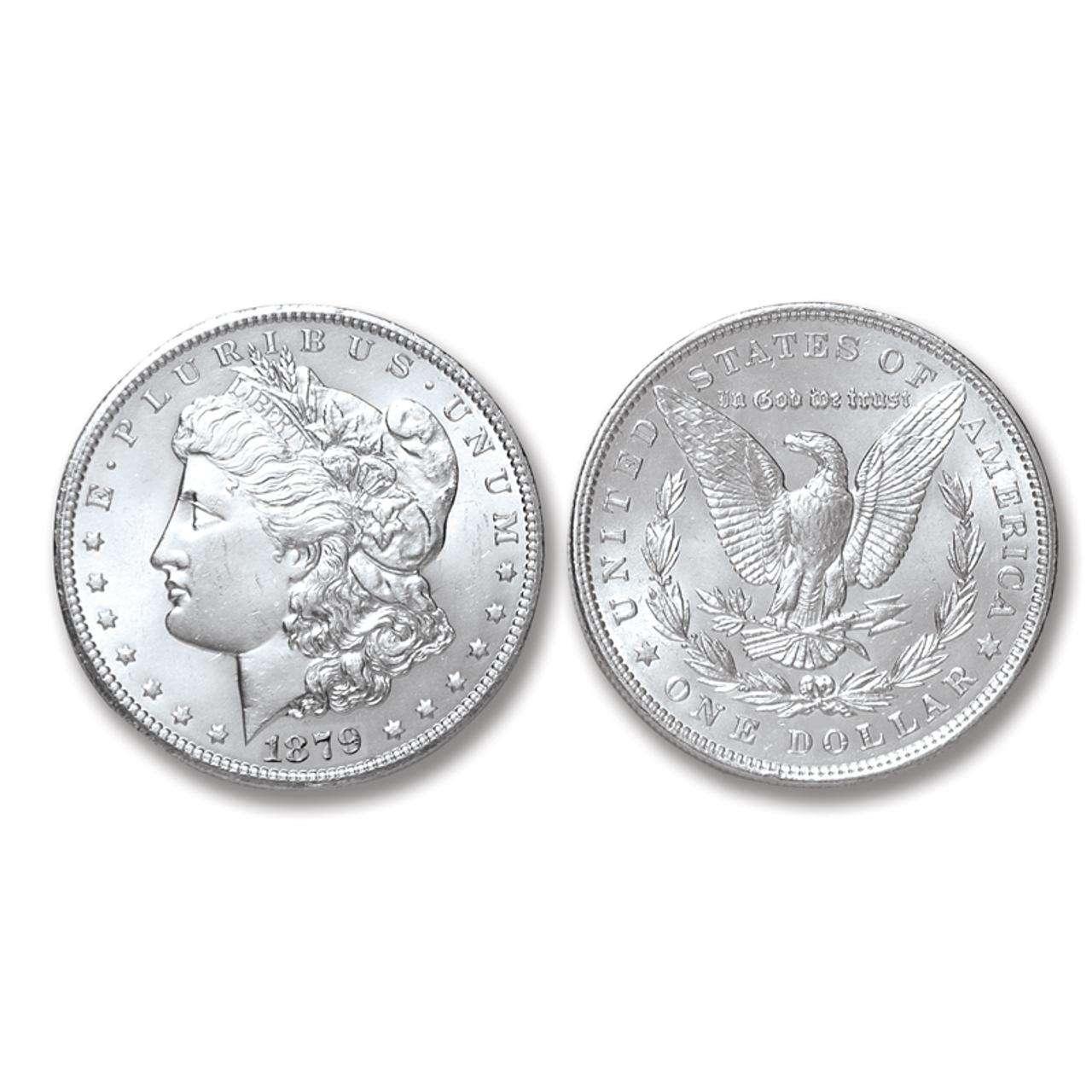 1879-P Morgan Silver Dollar - Brilliant Uncirculated Condition