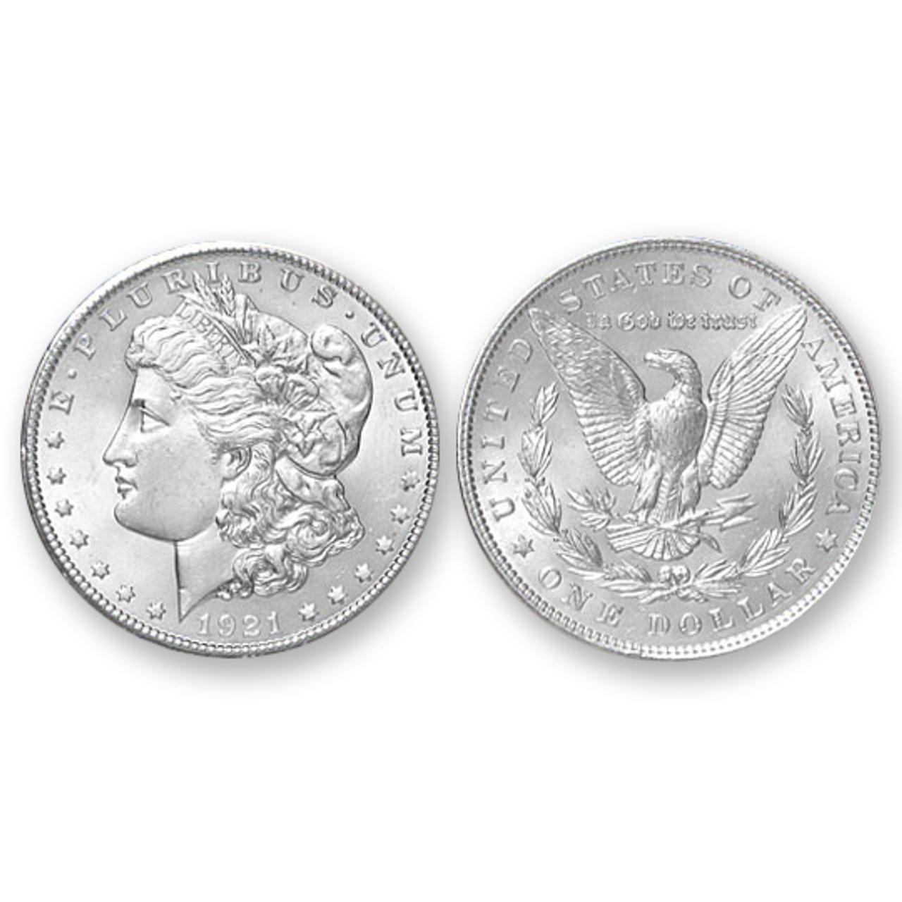 1921-P Morgan Silver Dollar - Brilliant Uncirculated Condition