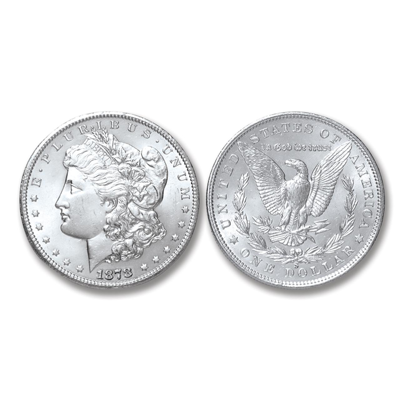 1878-S Morgan Silver Dollar - Brilliant Uncirculated Condition