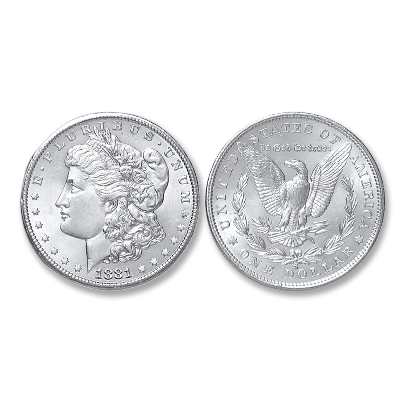 1881 S Morgan Silver Dollar Almost Uncirculated