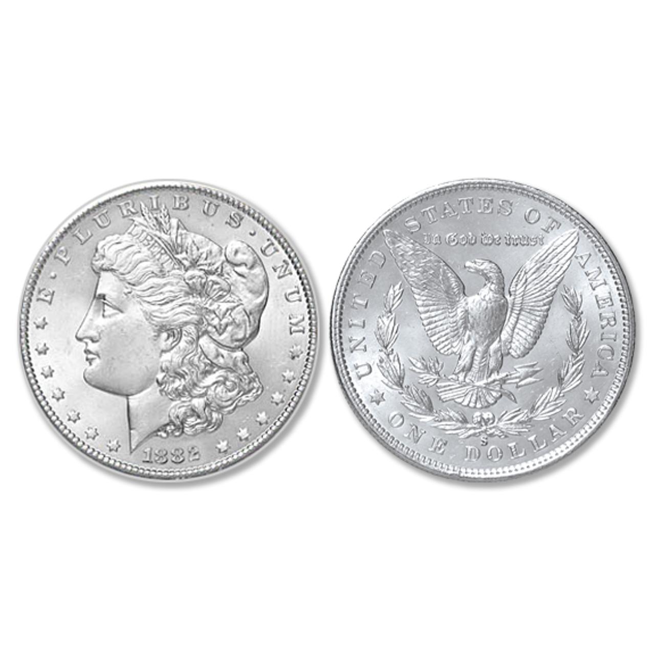 1882-S Morgan Silver Dollar - Brilliant Uncirculated Condition