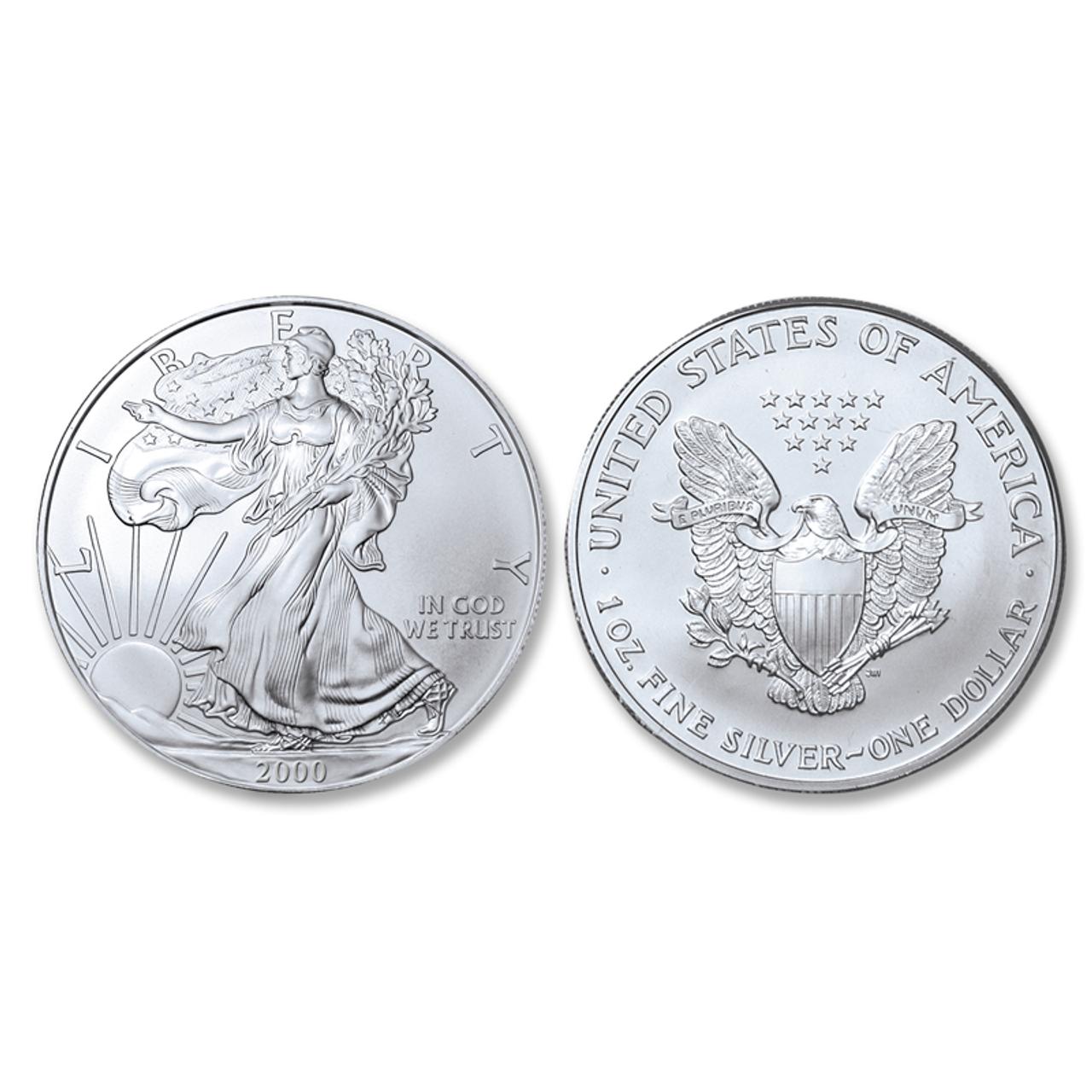 2000 Brilliant Uncirculated Silver Eagle Dollar