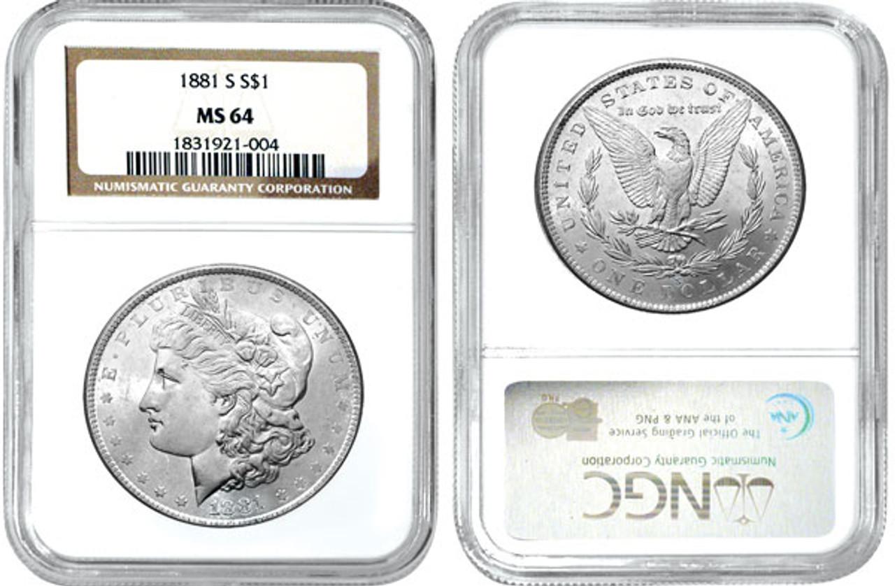 MS64 Morgan Silver Dollars