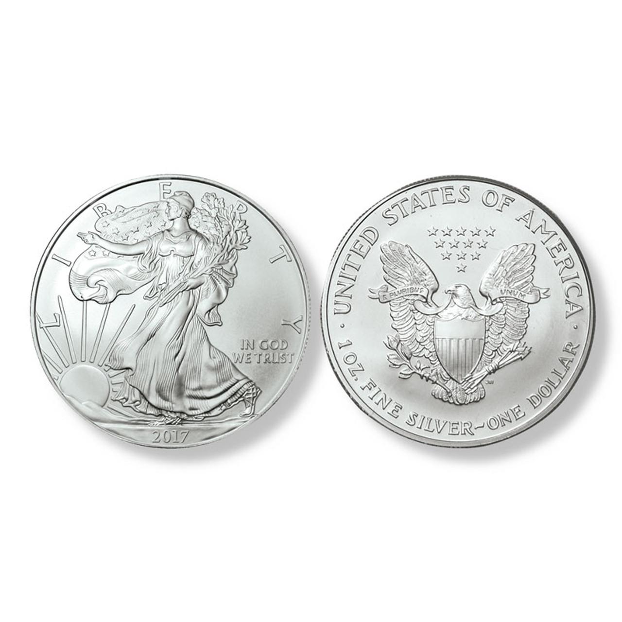 2017 Brilliant Uncirculated Silver Eagle Dollars