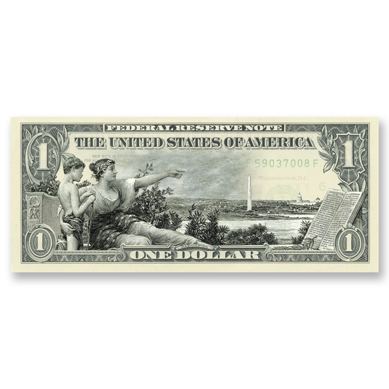 """""""History Instructing Youth"""" $1 Silver Certificate Tribute"""