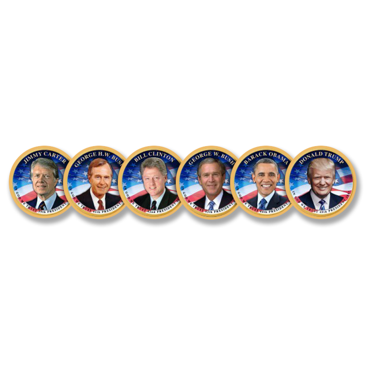 The Full-Color Living Presidents $1 Dollar Collection