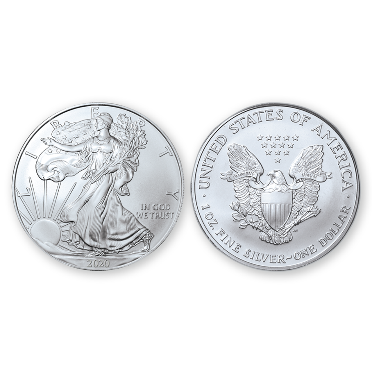 2020 Brilliant Uncirculated Silver Eagle Dollars