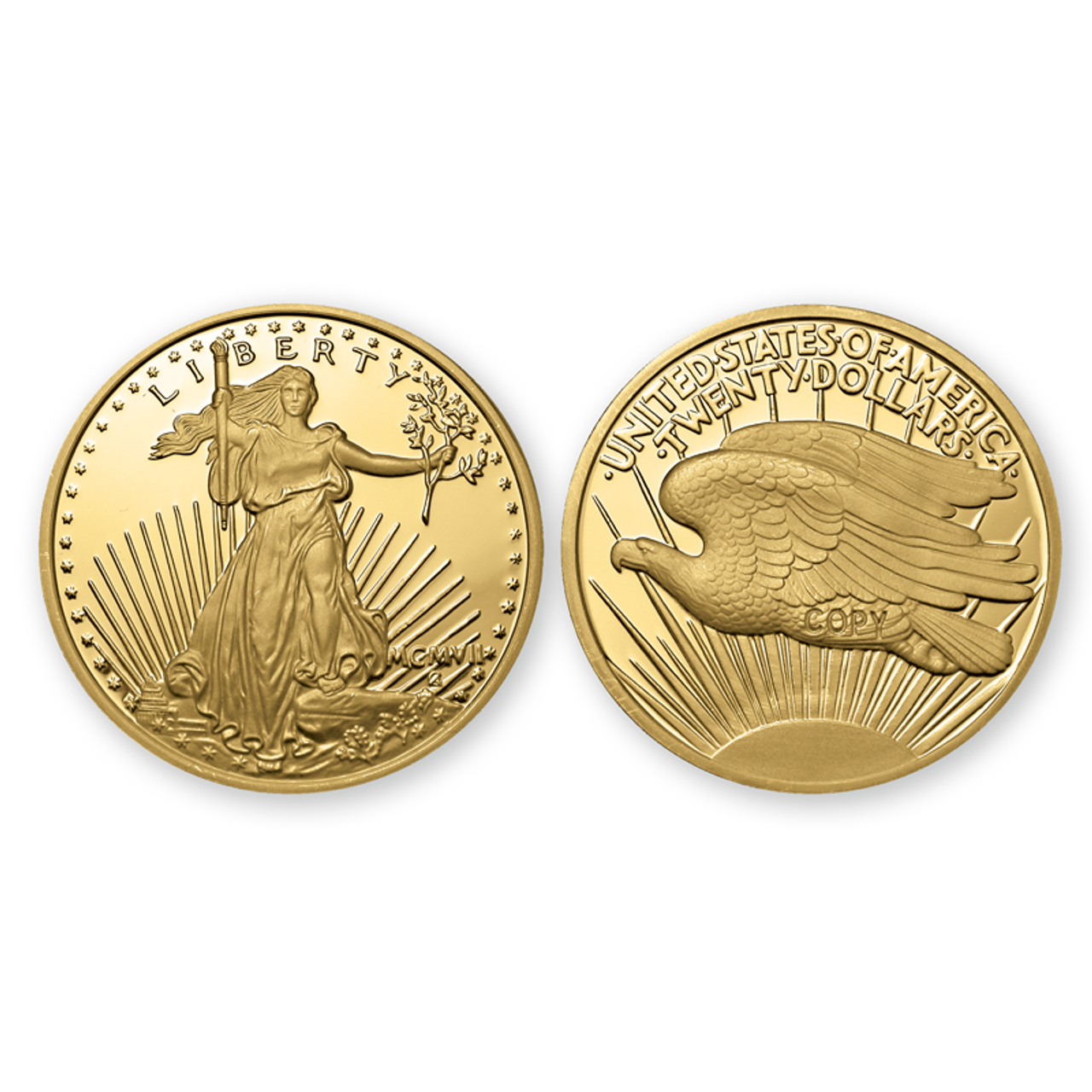 1907 Double Eagle Gold Clad Tribute Proof
