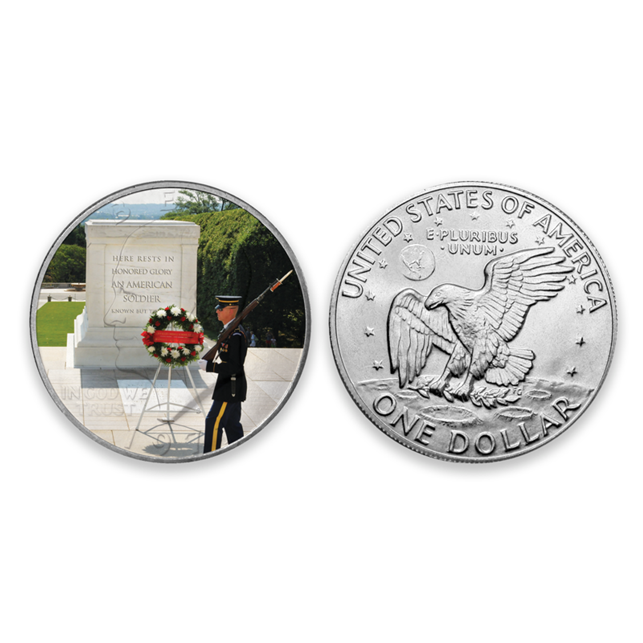 """Tomb of the Unknown Soldier"" Eisenhower Dollar"