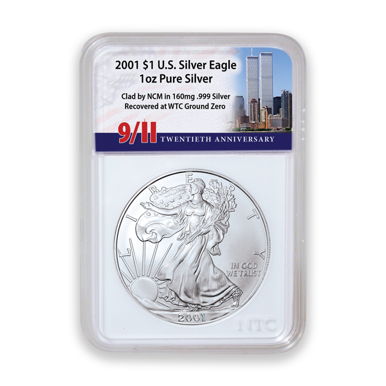 """WTC """"Recovery Silver"""" Silver Eagle Dollars"""