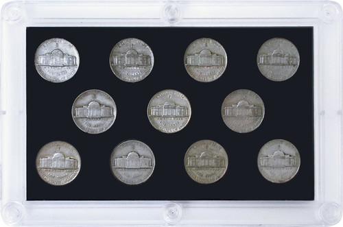 """11-pc """"Wartime Silver"""" Nickel Set"""