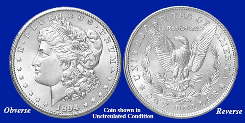 AU 1879-O Morgan Silver Dollar About Uncirculated New Orleans Mint 33119