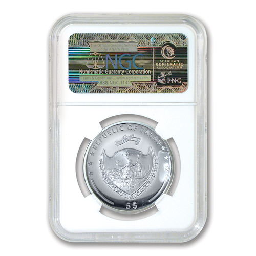 2014 High Relief PF69 Year of the Horse $5 Silver Proof Coin