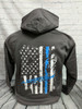 Longhorn Gear | Tailgate Hoodie | Blue and White Logo w/Flag Back | 201022