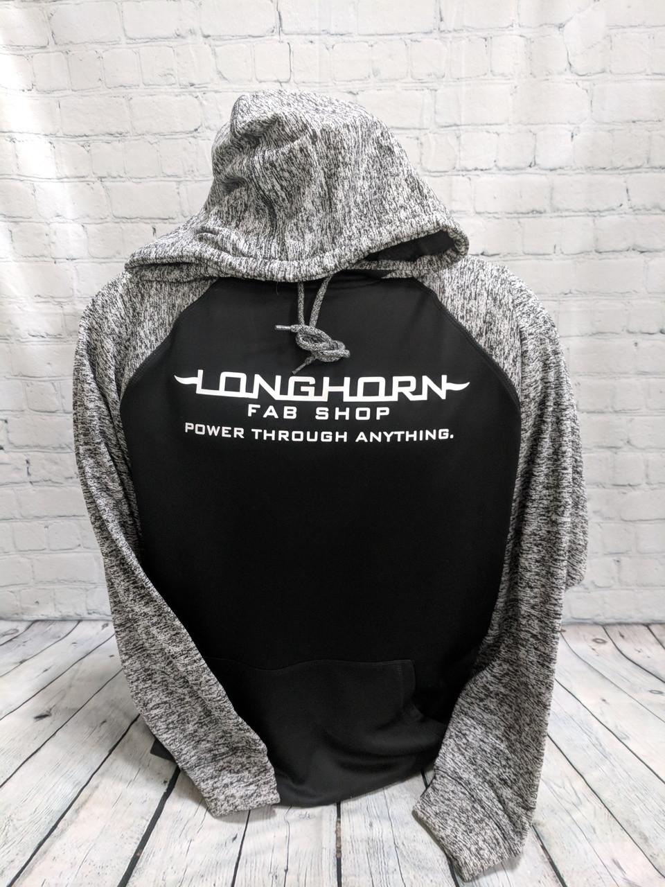 Longhorn Gear | Colorblock Hoodie | Black or White Logo | 201024