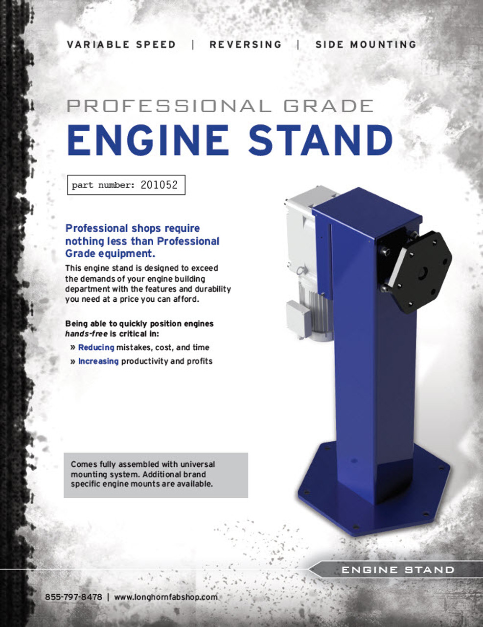 Professional Grade Rotating Engine Stand | Caster Wheel | 201052-C