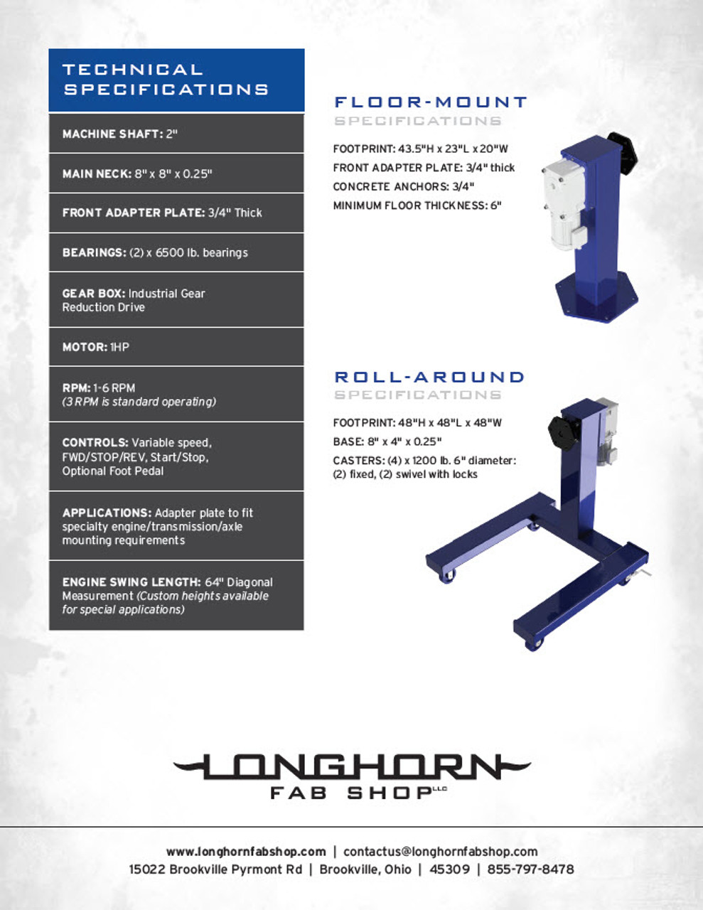 Industrial Rotator | Professional Grade Rotating Engine Stand | Fork Pocket | 201052-FP