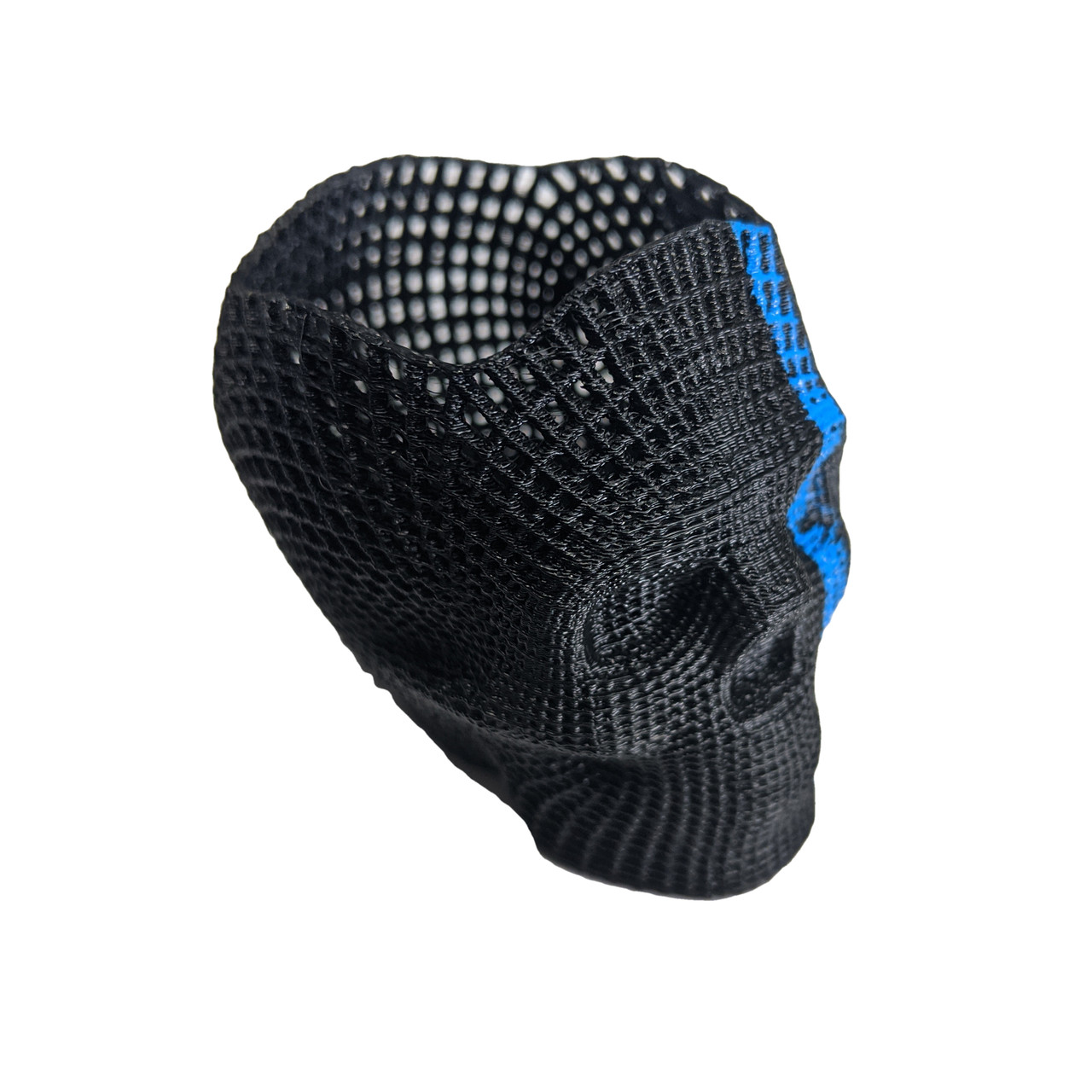 Thin Blue Line Skull | 2.1 inches Tall x 1.7 inches Wide | ABS Plastic | 201066