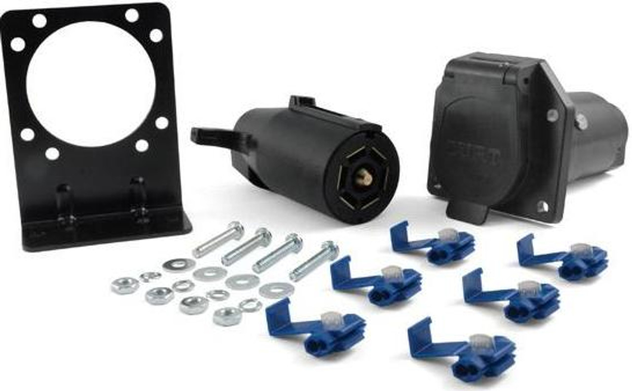 7-Way RV Blade connector, trailer and truck end, bracket(58152)