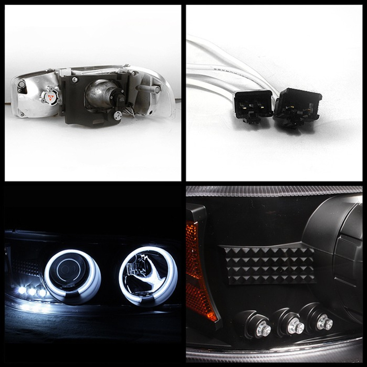 GMC Black Halo and LEDs with Projector Headlights (01-07 Classic)