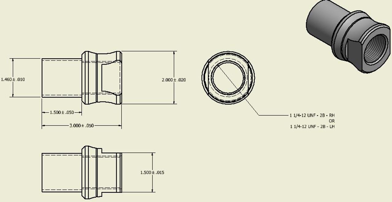 1.25in-12 Thread Weld In Bungs (Set of 4) (200955)