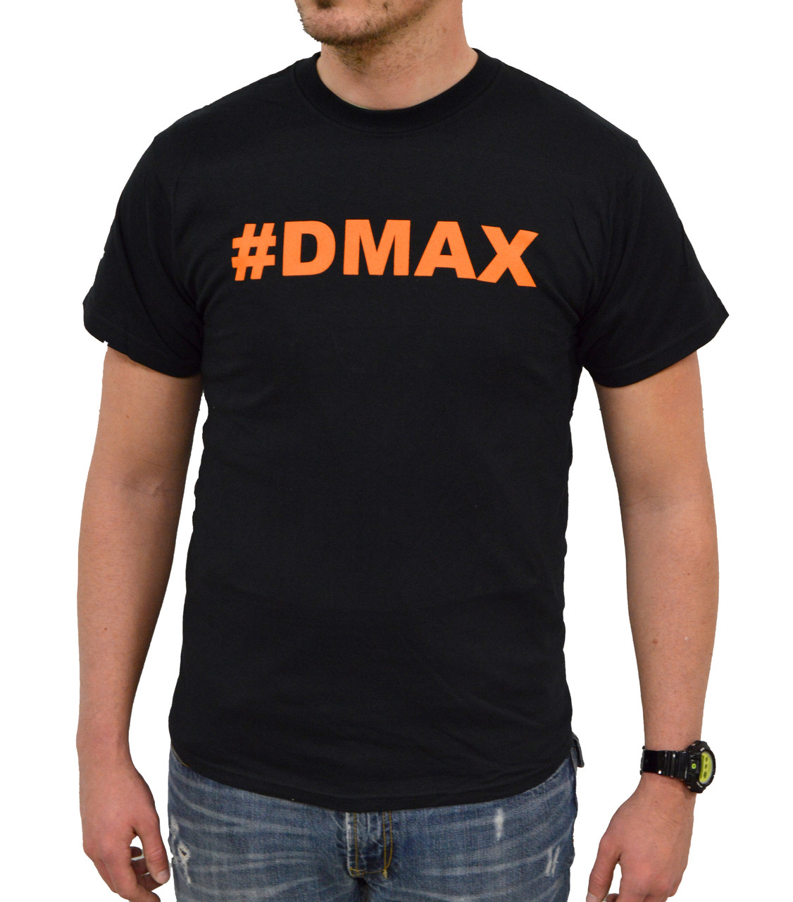 DuramaxGear - Hashtag DMAX Tee - Black and Orange (T14007-O)