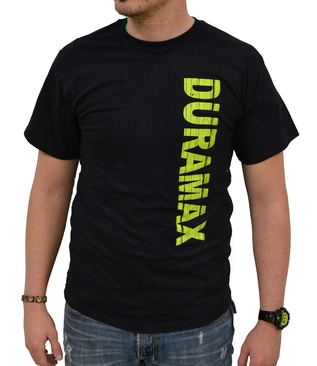 DuramaxGear - Vertical Duramax Tee - Black and Neon (T14009-N)