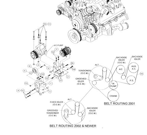 Duramax Engine Driven On Board Air (8 CFM at 100psi, 200PSI Max) (2001-2010)