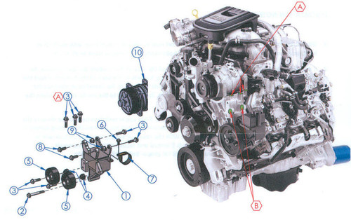 Duramax Engine Driven On Board Air (8 CFM at 100psi, 200PSI Max) (2011-Present)