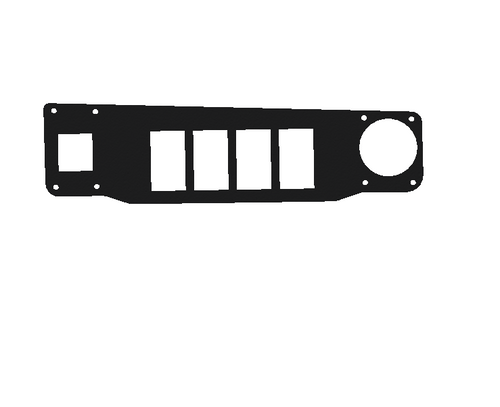 Longhorn Center Console Top Switch Panel with DUAL USB Charger (4 Switches) (201000)