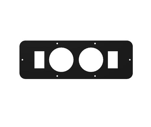 "Longhorn Center Console Switch Panel (2x 2-1/16"" Gauges, 2 Rocker Switch Cut Outs) (201002)"