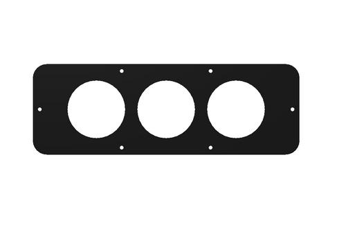 """Longhorn Center Console Gauge Panel (3x 2-1/16"""" Gauges) (201003)"""