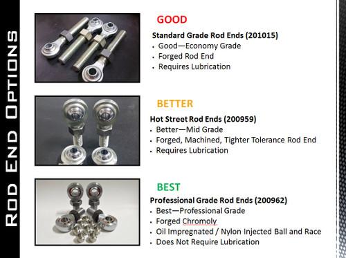 2011+ | Duramax | Bolt on Duramax Traction Bar Weld It Kit | Standard Grade Rod Ends | 201040