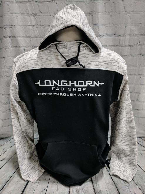 Longhorn Gear | Melange Hoodie | White Logo | 201026