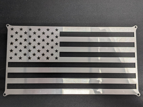 American Flag | 304 Stainless Steel | 10-1/4 in x 5-1/2 in | Made in USA | 201091