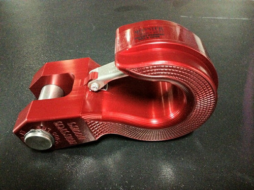 Swivel Hook D-Shackle Replacement Red Aluminum (MH-SW1R)