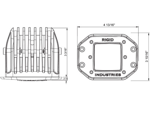 Rigid Industries - Flush Mount Dually - Spot - Pair (21211