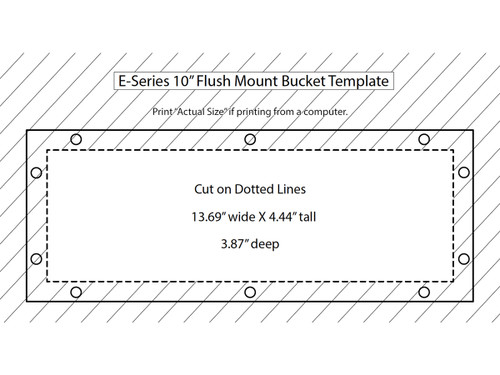 Rigid Industries - E-Series 10in Flush Mount Bucket (40012B)
