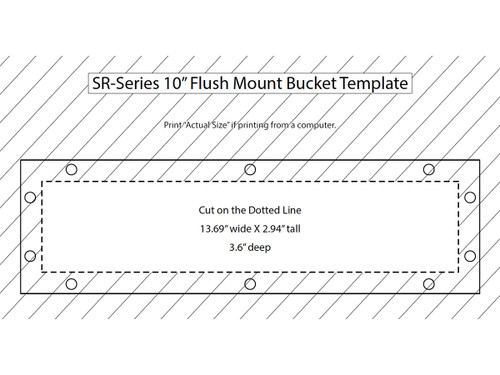 "Rigid Industries - SR-Series 10"" Flush Mount Bucket (40014B)"