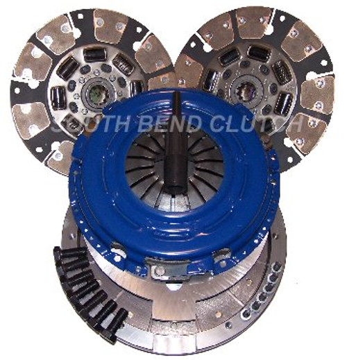 South Bend Clutch CB Dual Disc Clutch Kit 650HP 1200 FT-LBS (SDDMAXDFY)