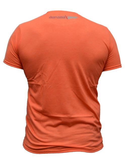 DuramaxGear - Heathered Orange Bleeding Cowboy T-shirt- Orange and White (T14014)