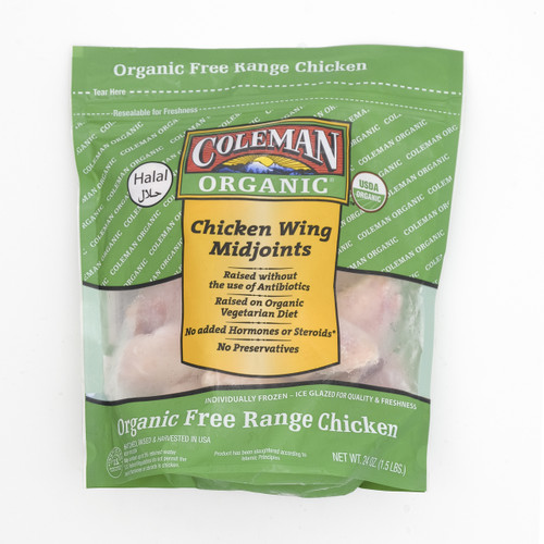 COLEMAN Organic Chicken Wings Mid-joints 有機雞中翼 1.5lb / pack
