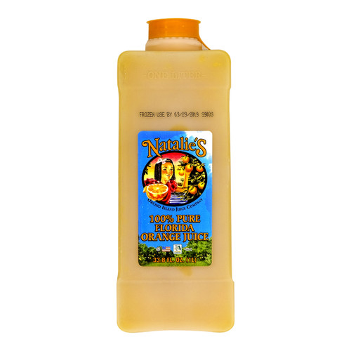 Must be kept at the freezer around -18 degrees celsius for storage before defrost.Must be kept refrigerated between 0-2 degrees celsius and served within 7 days after defrosted. 1 Litre Natalie's Orange Juice is 100% pure squeezed from 12-15 oranges.  解凍前請先冷藏在攝氏-18度的冰箱內。解凍後必須冷藏在攝氏0-2度之間及於7天內飲用。 一枝1公升Natalie's Orange Juice由12-15個鮮橙榨取製成。