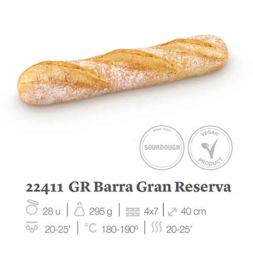 EUROPASTRY Gran Reserve French Loaf  (40cm)  法式酸種長麵包~ 28pc x 295g / box